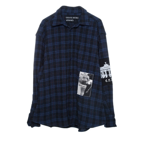 Chemise À Carreaux Bleu Shirt by Enfants Riches Deprimes in Keeping Up With The Kardashians - Season 12 Episode 11