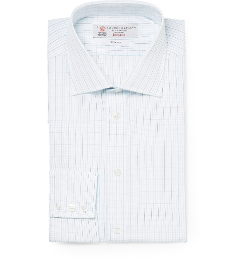 Checked Cotton Shirt by Turnbull & Asser in Fantastic Four