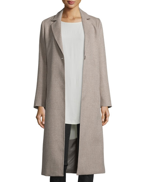 Project Calf-Length Alpaca Coat by Eileen Fisher in Keeping Up With The Kardashians - Season 12 Episode 11