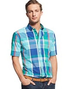 Plaid Collared Shirt by Club Room in Pitch Perfect 2