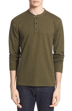 Standard Issue Henley Shirt by Rag & Bone in Jane Got A Gun
