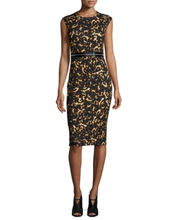 Printed Bodycon Zip Dress by McQ by Alexander McQueen in Mistresses