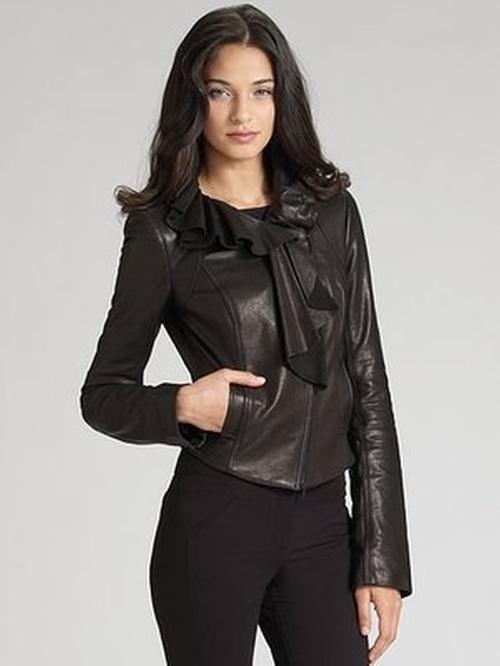 Ruffled Leather Jacket by Diane Von Furstenberg in Gossip Girl - Series Looks