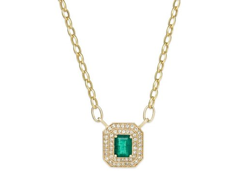 Emerald & Diamond Pendant Necklace by Brasilica by EFFY in The Man from U.N.C.L.E.