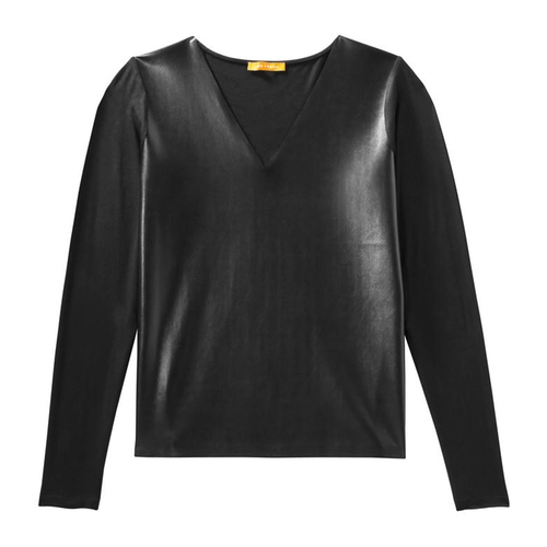Faux Leather Tee Shirt by Joe Fresh in Pitch Perfect