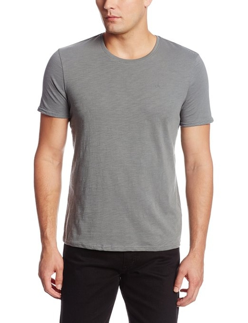 Short Sleeve Crew Neck Basic Jersey Shirt by Calvin Klein Jeans in Silver Linings Playbook