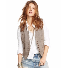 Herringbone Linen-Wool Vest by Denim & Supply Ralph Lauren in The Fate of the Furious
