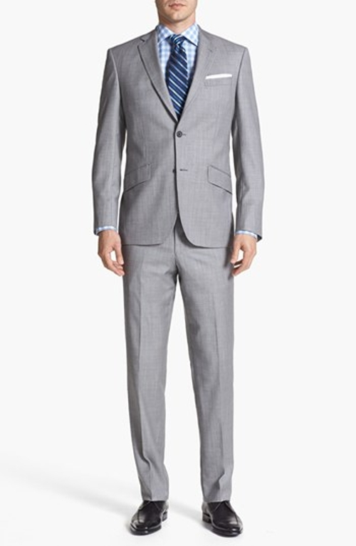 Jones Trim Fit Wool Suit by Ted Baker London in Fight Club