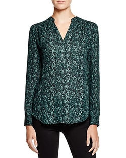 Printed Silk Blouse by Dylan Gray in Supergirl
