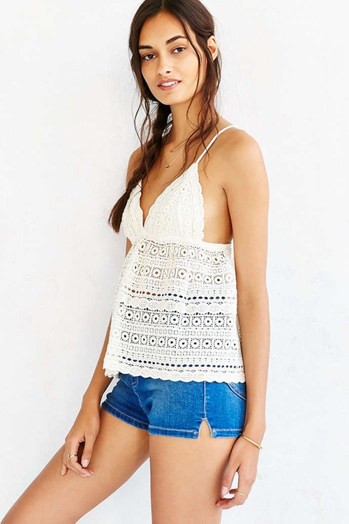 Wild Child Eyelet Camisole by Kimchi Blue in The Vampire Diaries - Season 7 Episode 2