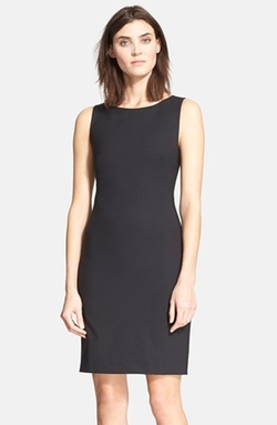 Stretch Wool Sheath Dress by Theory in Legend