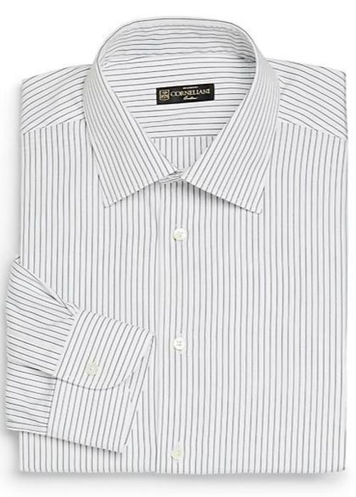 Fine Striped Dress Shirt by Corneliani in Yves Saint Laurent