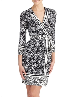 Geo-Print Wrap Dress by Donna Morgan in Jessica Jones