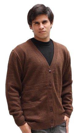 Men's Alpaca Wool Golf Cardigan by Alpaca Warehouse in If I Stay