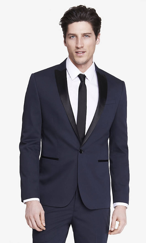 Color Block Tuxedo Jacket by Express in Adult Beginners