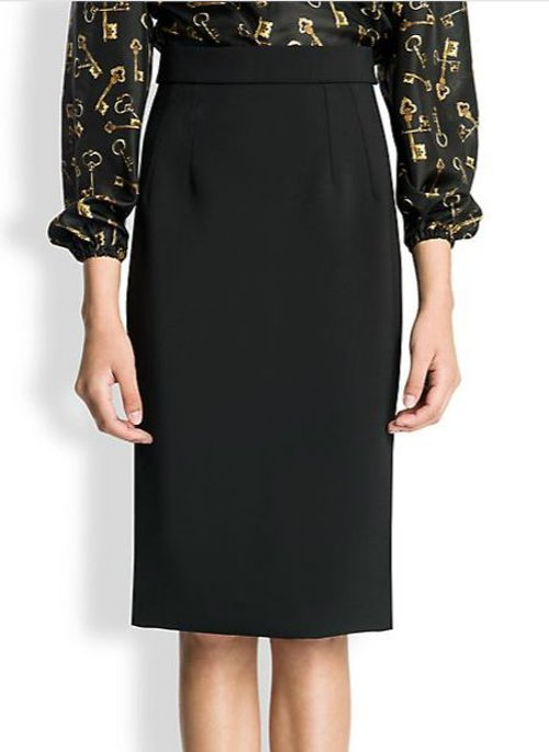 Wool Crepe Skirt by Dolce & Gabbana in A Most Violent Year