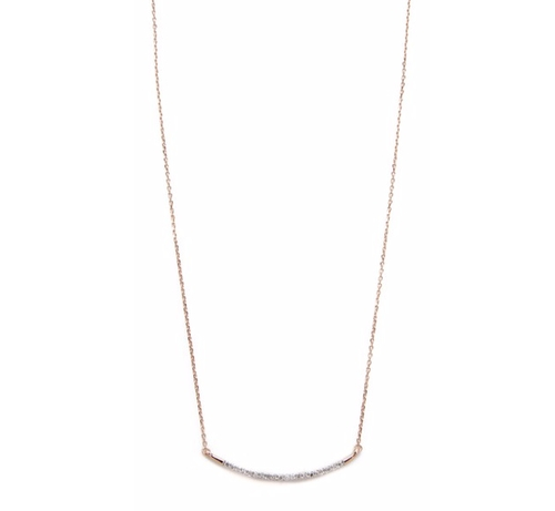 Large Pave Curve Necklace by Adina Reyter in Chelsea