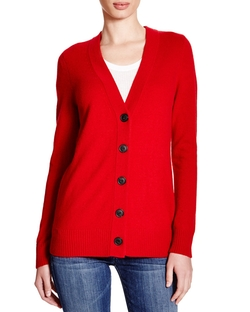 Cashmere Boyfriend Cardigan by C by Bloomingdale's in Black-ish