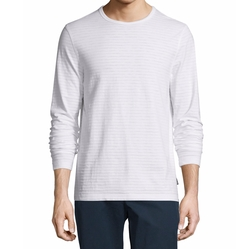 Striped Long-Sleeve Slub Tee by Michael Kors in Ballers