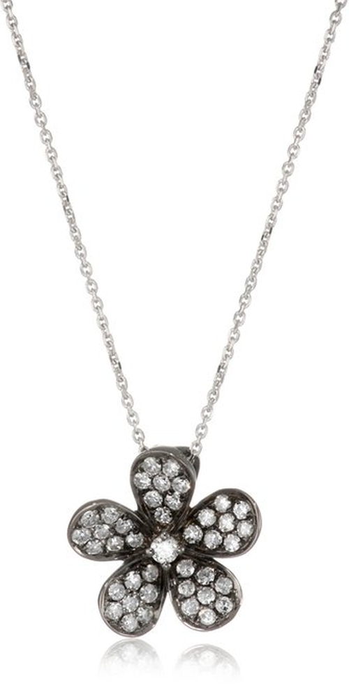 Blossom Diamond Flower Pendant Necklace by Kc Designs in Sex and the City