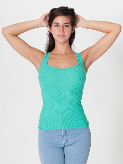 Rib U-Neck Tank Top by American Apparel in Masterminds