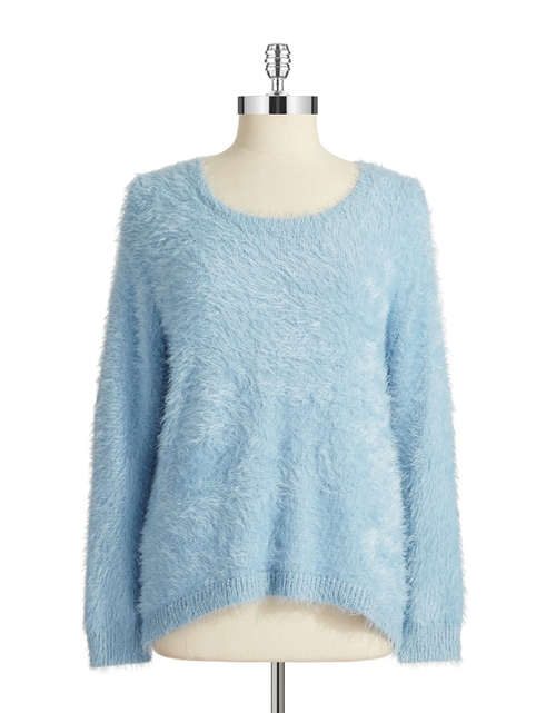 Eyelash Fringe Pullover by Vince Camuto in Christmas Vacation