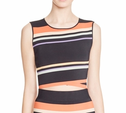 Jeenie Tribal Stripe Crop Top by Ted Baker in The Bold Type