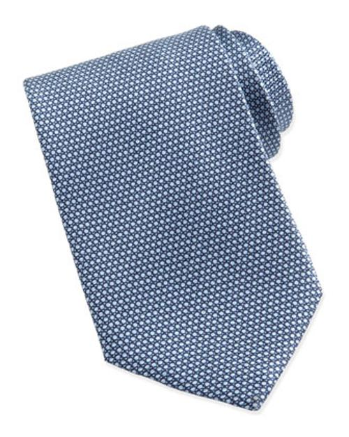 Micro-Circle Neat Tie, Light Blue by Ermenegildo Zegna in Million Dollar Arm
