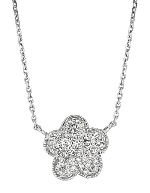 White Gold  And Diamond Flower Necklace by Lord & Taylor in Confessions of a Shopaholic