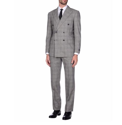 Check Double-Breasted Suit by Ermenegildo Zegna in Kingsman: The Secret Service