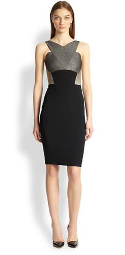 Paneled Halter-Style Dress by Antonio Berardi in Addicted