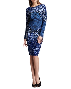 Long-Sleeve Animal-Print Dress by David Meister in Mother's Day