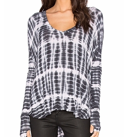 Viviana Tie Dye Long Sleeve Top  by Feel The Piece in Animal Kingdom