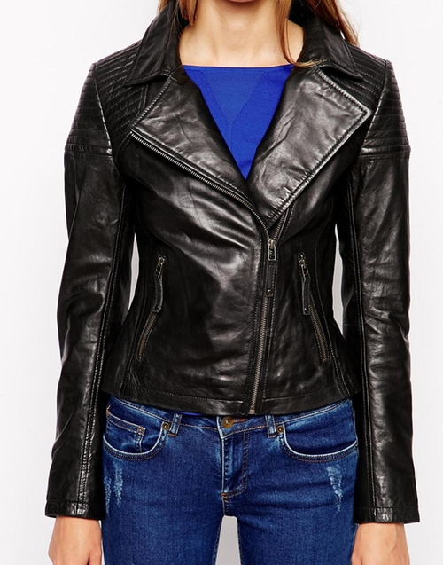 Barneys Leather Biker Jacket by Asos in Brooklyn Nine-Nine - Season 3 Episode 10