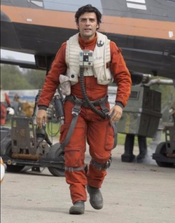Custom Made Flight Suit (Poe Dameron) by Michael Kaplan (Costume Designer) in Star Wars: The Force Awakens