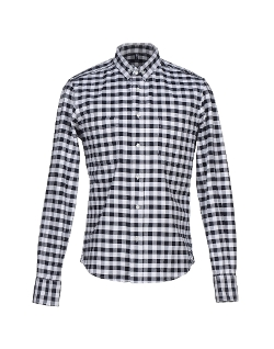 Long Sleeves Checked Shirt by Dondup in Dope