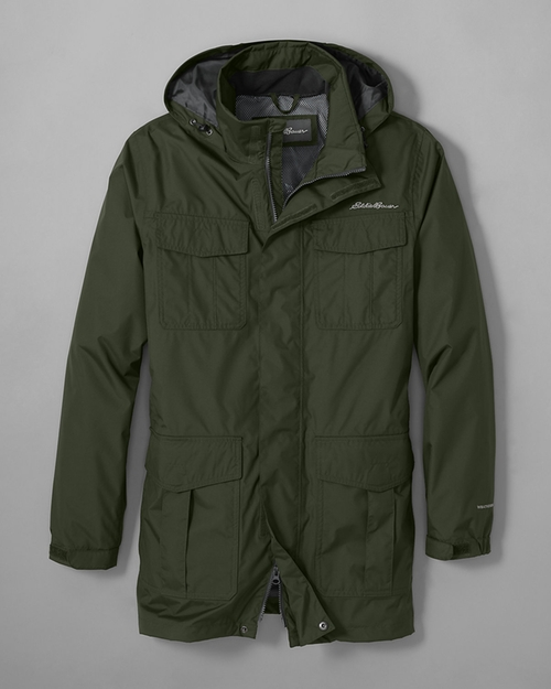 Men's Parka Jacket by Rainfoil in Love the Coopers