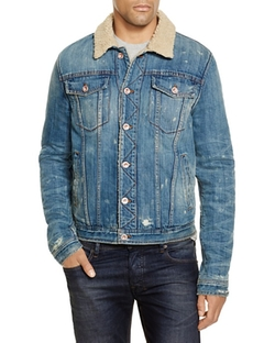Shearling Denim Jacket by Joe's Jeans in Empire