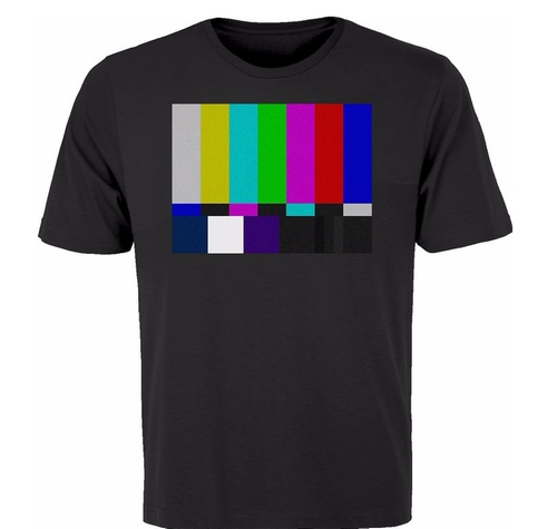 No Channel Color Bars Shirt by BSW in The Big Bang Theory - Season 9 Episode 20