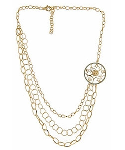Gala Lotus Bib Necklace by Max Chloe in Empire