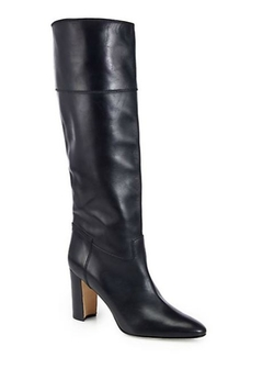 Equestrahi Leather Knee-High Boots by Manolo Blahnik in The Matrix