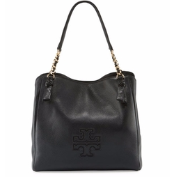 Harper Center-Zip Leather Tote Bag by Tory Burch in Animal Kingdom