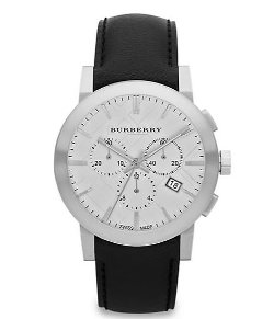 Stainless Steel Chronograph Watch by Burberry in Hall Pass