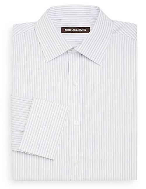 Dobby Stripe Dress Shirt by Michael Kors in Wish I Was Here