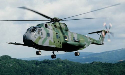 HH-3E Jolly Green Giant Helicopter by Sikorsky in Fast & Furious 6