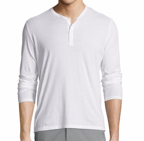 Classic Long-Sleeve Henley Shirt by ATM Anthony Thomas Melillo in Jack Reacher