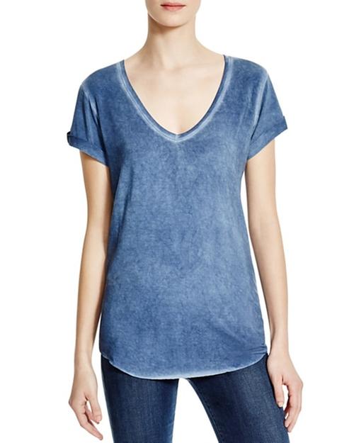 Charlie V-Neck T-Shirt by Paige Denim  in New Girl - Season 5 Episode 14