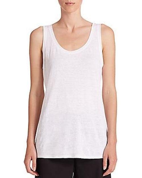 Organic Linen Tank Top by Eileen Fisher in Valentine's Day