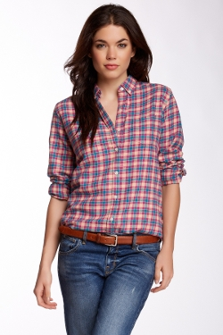 Classic Plaid Flannel Shirt by Trovata in Mean Girls