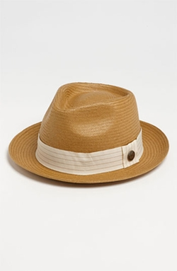 'Snare' Straw Fedora Hat by Goorin Brothers in Rosewood